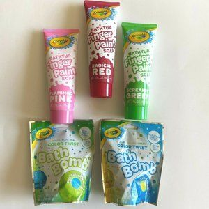 3 Crayola Bathtub Finger Soap 2 Bath Bomb Variety
